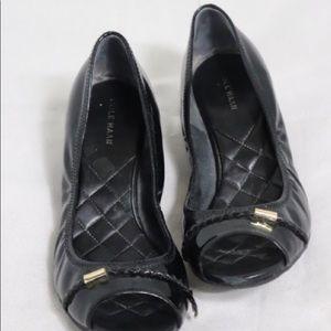Cole Haan Emory Wedge Peep Toe pump Black size 9.5